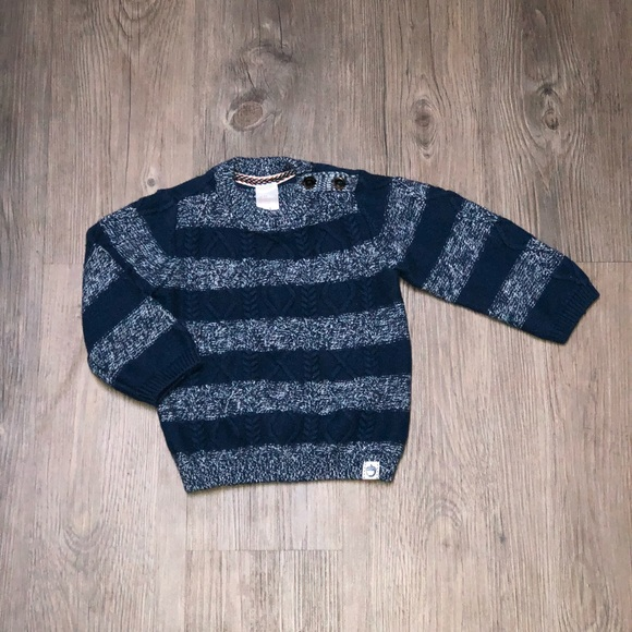 8ccd10857d11a H M Other - H M wool blend cable knit sweater blue